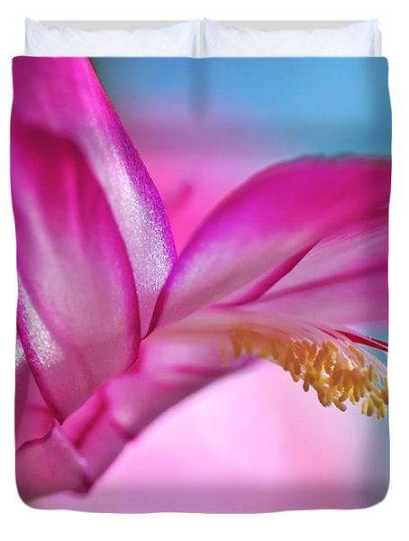 Soft And Delicate Cactus Bloom Duvet Cover by Kaye Menner