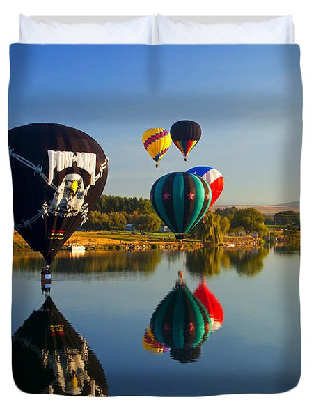 Soft Landings Duvet Cover by Mike  Dawson