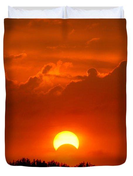 Solar Eclipse Duvet Cover by Bill Pevlor