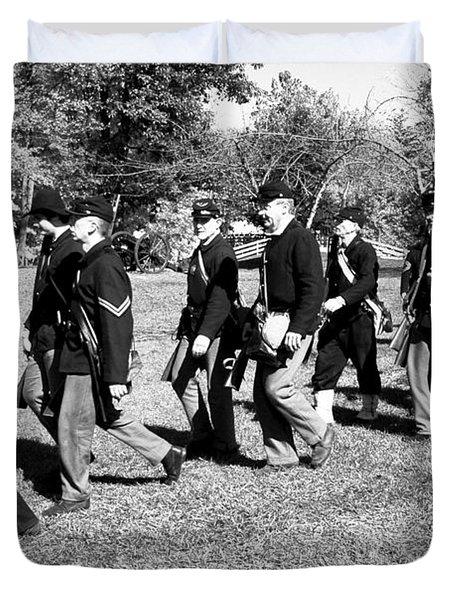 Soldiers March Duvet Cover by LeeAnn McLaneGoetz McLaneGoetzStudioLLCcom