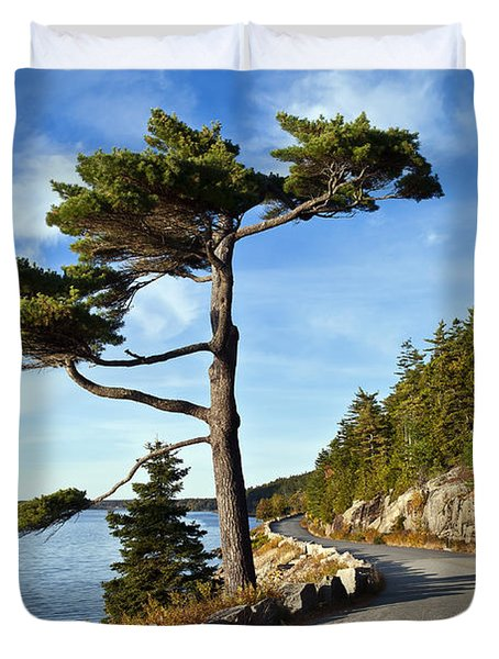 Somes Sound Maine Duvet Cover by John Greim