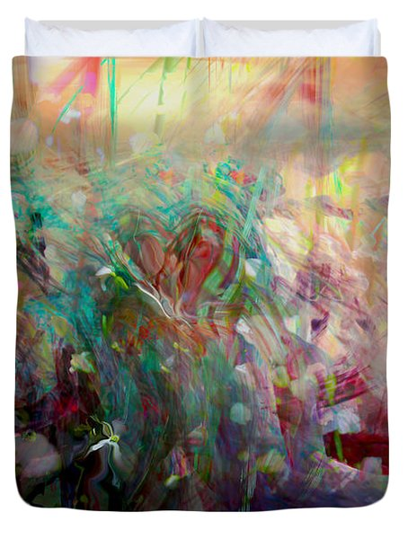 Something Beautiful Duvet Cover by Linda Sannuti