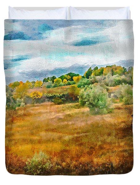 Somewhere In September Duvet Cover by Brett Pfister