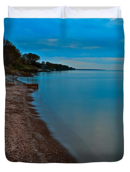 Soothing Shoreline Duvet Cover by Frozen in Time Fine Art Photography