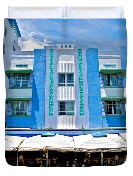 South Beach The Blue Section Duvet Cover by Eric Tressler