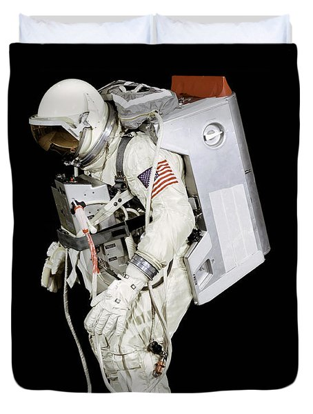 Spacesuit Used By Gemini Viii Duvet Cover by Stocktrek Images