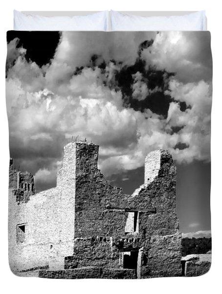 Spanish Mission Ruins Of Quarai Nm Duvet Cover by Christine Till