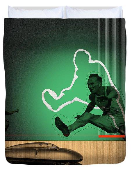 Speed Monsters Duvet Cover by Naxart Studio