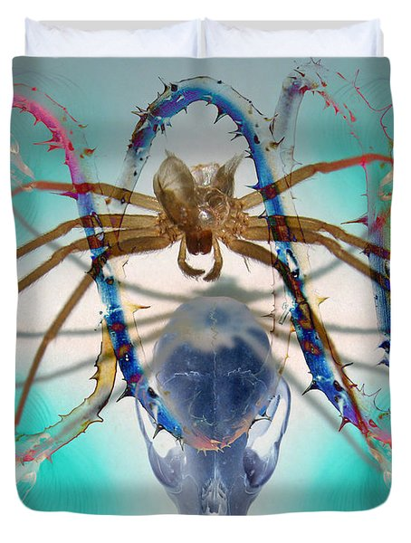 Spider Dna Duvet Cover by Adam Long