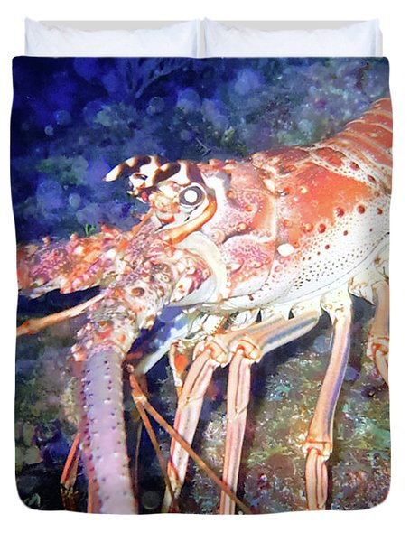 Spiney Lobster Duvet Cover by Barry Jones