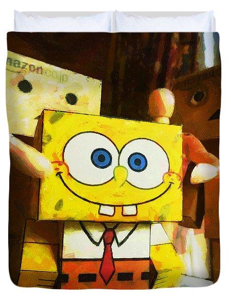Spongebob Always Loves The Group Hugs Duvet Cover by Steve Taylor