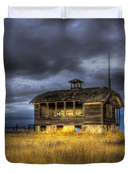 Spot on the School House Duvet Cover by Jean Noren