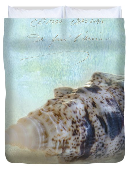 Spotted Auger Seashell Duvet Cover by Betty LaRue
