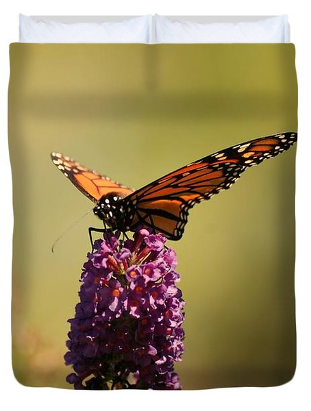 Spread Your Wings And Fly Duvet Cover by Angie Tirado
