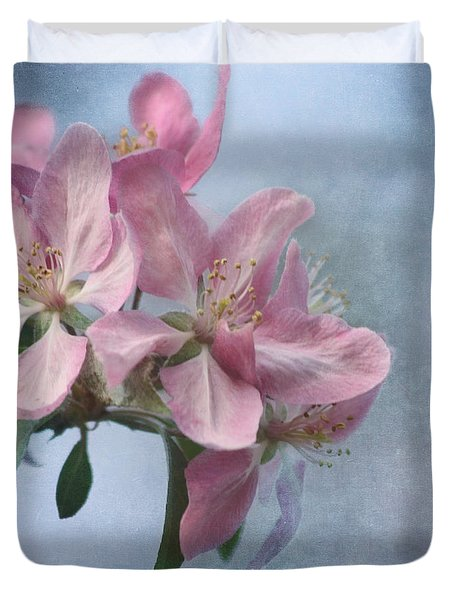 Spring Blossoms for the Cure Duvet Cover by Kim Hojnacki