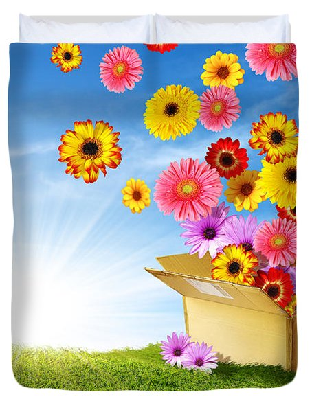 Spring Delivery Duvet Cover by Carlos Caetano