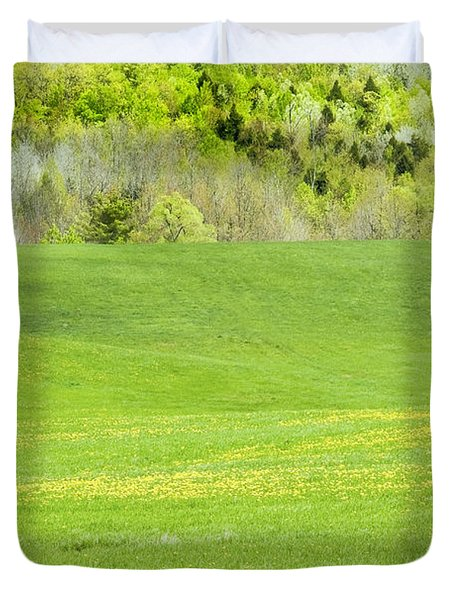Spring Farm Landscape in Maine Duvet Cover by Keith Webber Jr