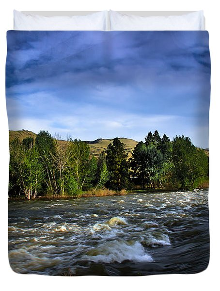 Spring Flow Duvet Cover by Robert Bales