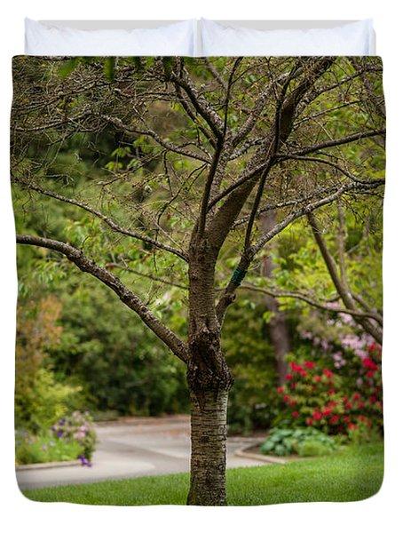 Spring Garden Landscape Duvet Cover by Mike Reid