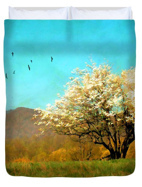 Spring In The Mountains Duvet Cover by Darren Fisher