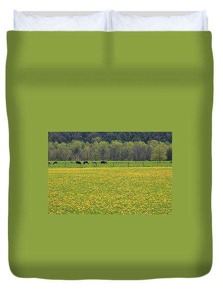 Spring Meadow Flowers Duvet Cover by John Stephens