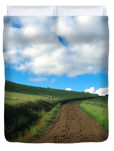 Spring Road 2 Duvet Cover by Kathy Yates