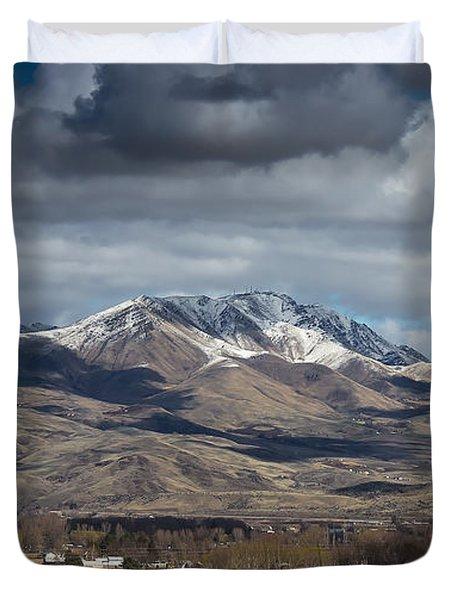 Spring Snow Duvet Cover by Robert Bales