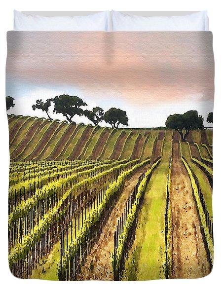 Spring Vineyard Duvet Cover by Sharon Foster