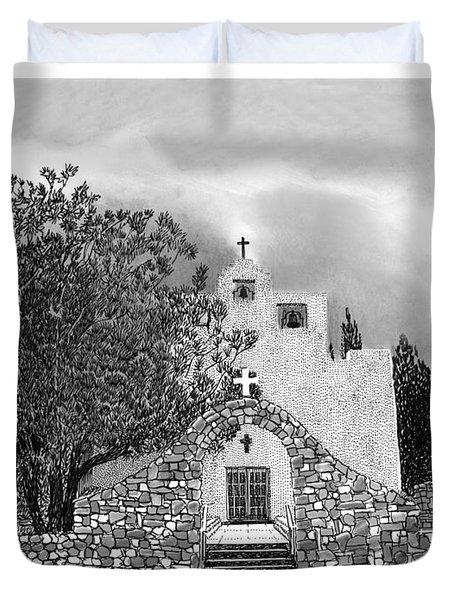 St Franncis De Paula Mission Duvet Cover by Jack Pumphrey