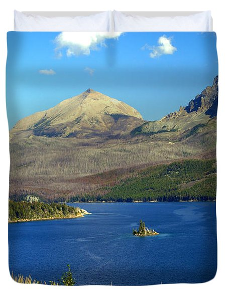 St. Mary's Lake 1 Duvet Cover by Marty Koch