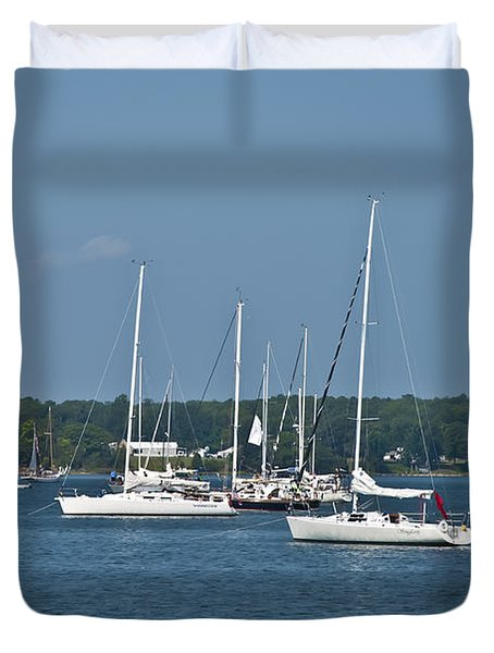 St. Mary's River Duvet Cover by Bill Cannon