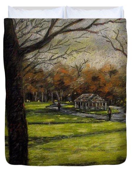 St. Stephen's Green Dublin Duvet Cover by John  Nolan