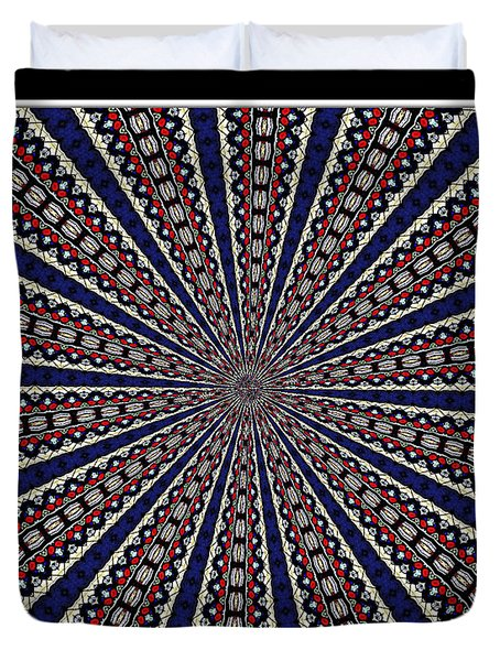 Stained Glass Kaleidoscope 49 Duvet Cover by Rose Santuci-Sofranko