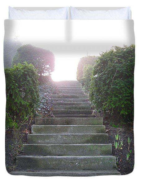 Stairway To A New Beginning Duvet Cover by Brian Wallace