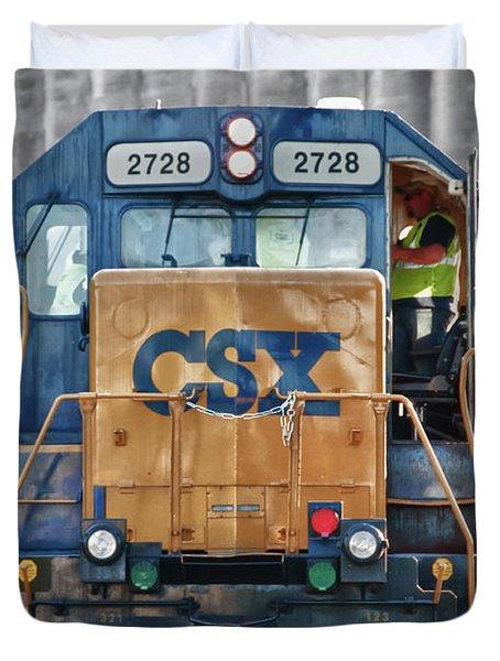 Stalled 7141 Duvet Cover by Guy Whiteley
