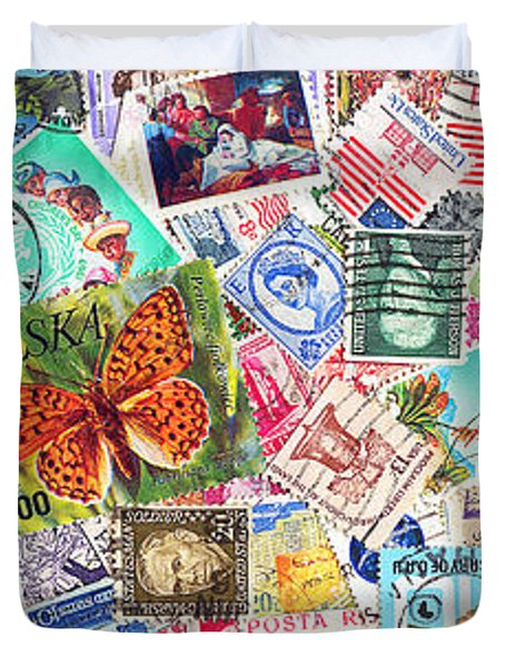 Stamp Collection . 3 to 1 Proportion Duvet Cover by Wingsdomain Art and Photography