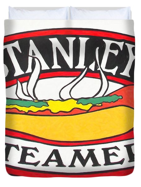 Stanley's Steamers Hot Dog Sign - 5d17929 - Painterly Duvet Cover by Wingsdomain Art and Photography