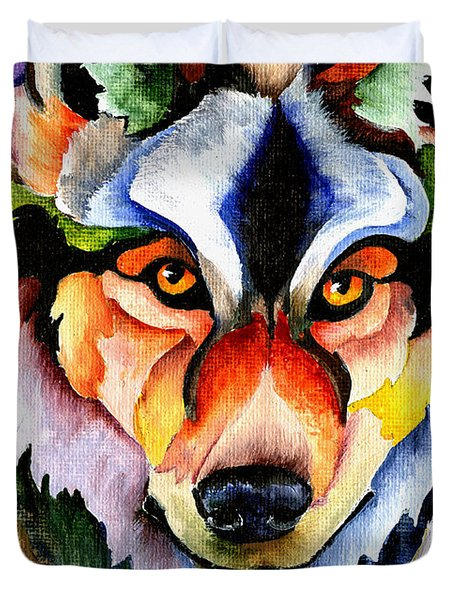 Stare Down Duvet Cover by Sherry Shipley