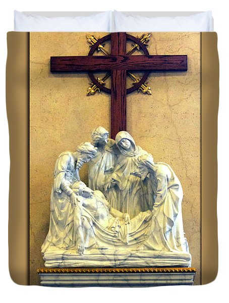 Station Of The Cross 14 Duvet Cover by Thomas Woolworth