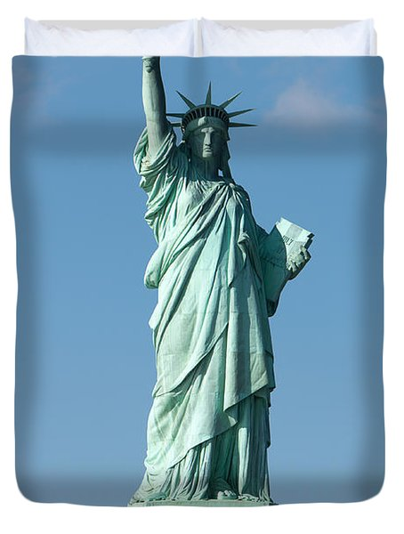 Statue Of Liberty Iv Duvet Cover by Clarence Holmes