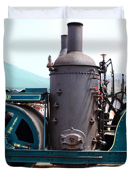 Steam Powered Roller 7d15116 Duvet Cover by Wingsdomain Art and Photography