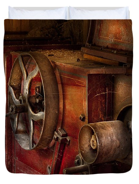 Steampunk - Gear - It Used To Work Duvet Cover by Mike Savad