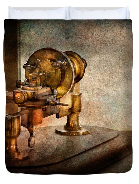 Steampunk - Gear Technology Duvet Cover by Mike Savad