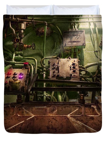 Steampunk - Naval - This is where I do my job Duvet Cover by Mike Savad