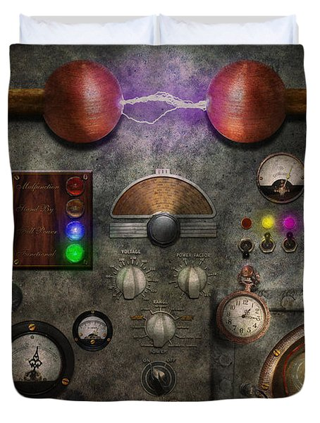 Steampunk - The Modulator Duvet Cover by Mike Savad