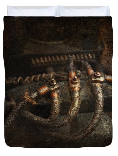 Steampunk - Electrical - Frayed Connections Duvet Cover by Mike Savad