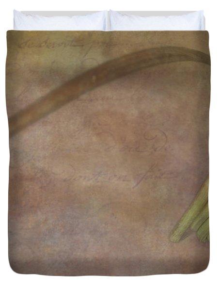 Stem Curls Duvet Cover by Susan Candelario