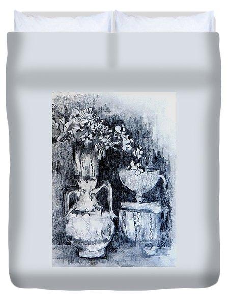 Still Life With Vases Duvet Cover by Jolante Hesse