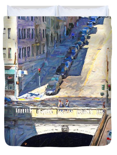 Stockton Street Tunnel Midday Late Summer in San Francisco Duvet Cover by Wingsdomain Art and Photography