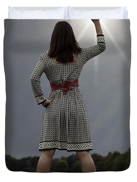 Stop The Sun Duvet Cover by Joana Kruse